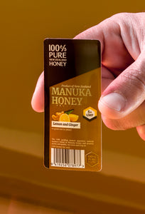 10g UMF 5+ Manuka Honey with Lemon & Ginger