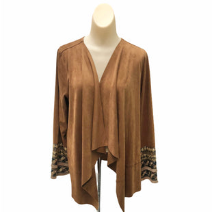 Primary Photo - BRAND: SOFT SURROUNDINGS STYLE: SWEATER CARDIGAN LIGHTWEIGHT COLOR: BROWN SIZE: XS SKU: 293-29338-10693