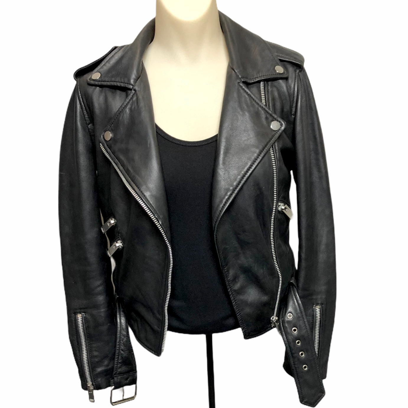 Primary Photo - BRAND:  CMA <BR>STYLE: JACKET LEATHER <BR>COLOR: BLACK <BR>SIZE: XS <BR>OTHER INFO: WALTER BAKER - <BR>SKU: 293-29312-30921