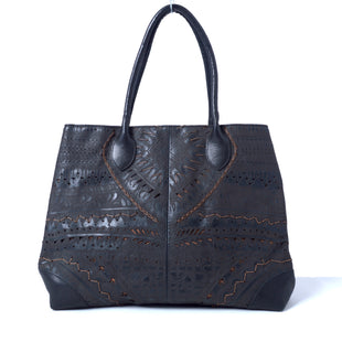 Primary Photo - BRAND:  CMB STYLE: HANDBAG LEATHER COLOR: CHOCOLATE SIZE: LARGE OTHER INFO: ROBERTO PANCANI - SKU: 293-29353-54