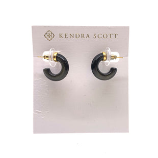 Primary Photo - BRAND: KENDRA SCOTT JEWLERY STYLE: EARRINGS COLOR: GREEN OTHER INFO: MIKKI HUGGIE SKU: 293-29311-34039GOLDEN OBSIDIAN
