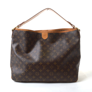 "Primary Photo - BRAND: LOUIS VUITTON STYLE: HANDBAG DESIGNER COLOR: MONOGRAM SIZE: MEDIUM OTHER INFO: DELIGHTFUL MM SKU: 293-29312-2746015""W  X 13""H X 6""DCONDITION:  VERY GOOD. LIGHT WEAR ALONG OPENING EDGES, VERY SMALL, LIGHT PEN MARKS"