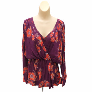 Primary Photo - BRAND: FREE PEOPLE STYLE: TOP LONG SLEEVE COLOR: MAGENTA SIZE: S OTHER INFO: ORANGE FLORAL SKU: 293-29311-29902