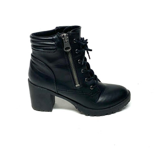 Primary Photo - BRAND: STEVE MADDEN STYLE: BOOTS ANKLE COLOR: BLACK SIZE: 9 OTHER INFO: FAUX LEATHER SKU: 293-29312-32977