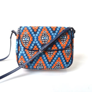 "Primary Photo - BRAND: VERA BRADLEY STYLE: HANDBAG COLOR: ORANGE BLUE SIZE: MEDIUM SKU: 293-29312-2638610""W X 7""H X 2""D"