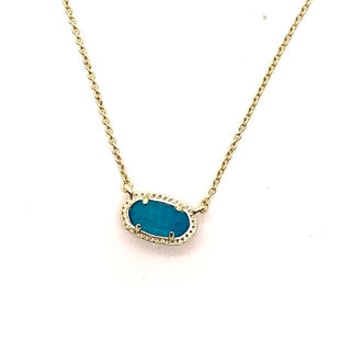 Primary Photo - BRAND: KENDRA SCOTT JEWLERY STYLE: NECKLACE COLOR: TURQUOISE SKU: 293-29311-34143