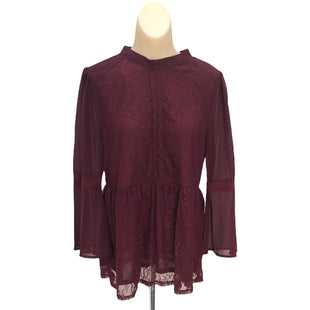 Primary Photo - BRAND: ANDREE BY UNIT STYLE: TOP LONG SLEEVE COLOR: BURGUNDY SIZE: S SKU: 293-29311-29552