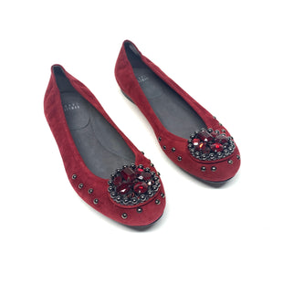 Primary Photo - BRAND: STUART WEITZMAN STYLE: SHOES FLATS COLOR: BURGUNDY SIZE: 8 SKU: 293-29311-34862