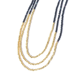 Primary Photo - BRAND:  CMB STYLE: NECKLACE COLOR: GOLD OTHER INFO: GORJANA - BLACK BEADED SKU: 293-29311-32482LENGTH:  20""