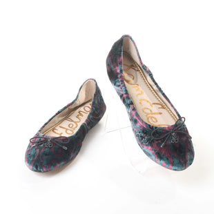 Primary Photo - BRAND: SAM EDELMAN STYLE: SHOES FLATS COLOR: TEAL SIZE: 7.5 OTHER INFO: PINK VELOUR SKU: 293-29311-28604