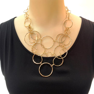 Primary Photo - BRAND: CHICOS STYLE: NECKLACE COLOR: GOLD OTHER INFO: RINGS SKU: 293-29347-444