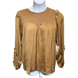 Primary Photo - BRAND:    CLOTHES MENTOR STYLE: TOP LONG SLEEVE COLOR: BRONZE SIZE: 1X OTHER INFO: HAUTE CURVE - SKU: 293-29312-32982