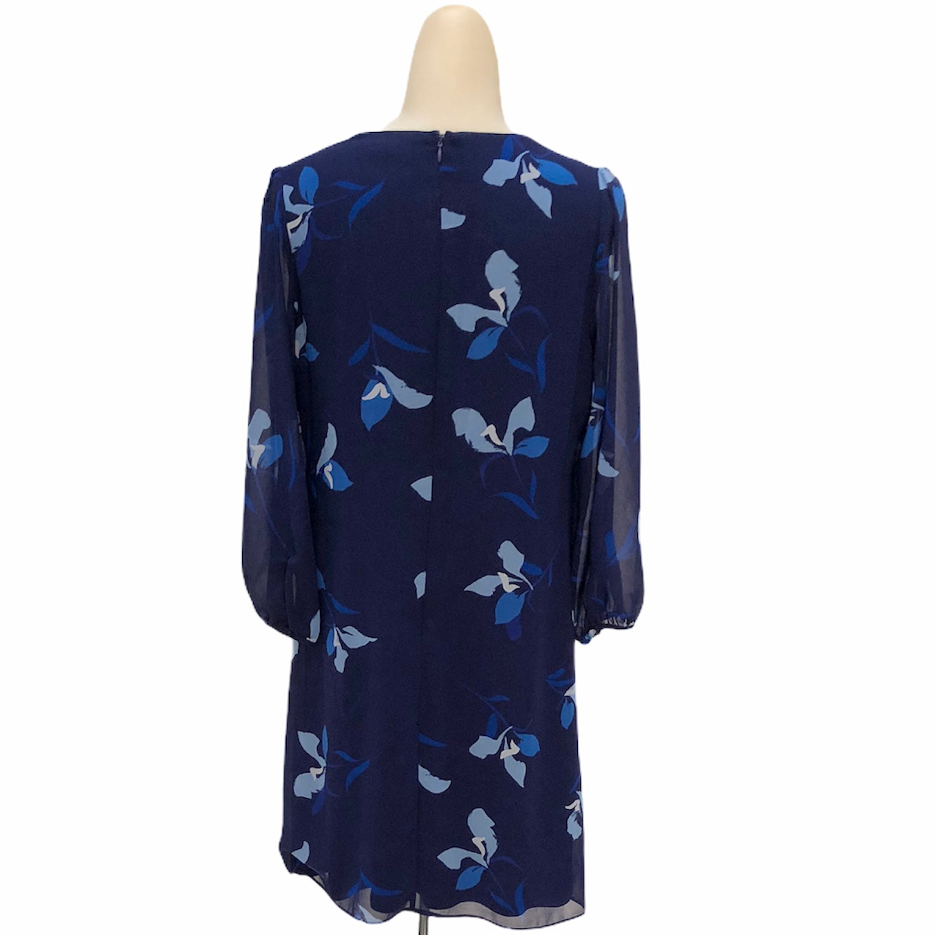 Photo #1 - BRAND: CALVIN KLEIN <BR>STYLE: DRESS SHORT LONG SLEEVE <BR>COLOR: NAVY <BR>SIZE: 6 <BR>SKU: 293-29312-27541
