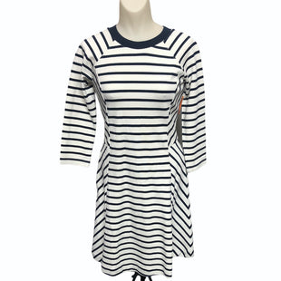 Primary Photo - BRAND: BANANA REPUBLIC STYLE: DRESS SHORT LONG SLEEVE COLOR: NAVY SIZE: 0 OTHER INFO: BEIGE STRIPE SKU: 293-29311-33823