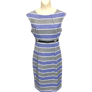 Primary Photo - BRAND: CALVIN KLEIN STYLE: DRESS SHORT SLEEVELESS COLOR: BLUE SIZE: 8 OTHER INFO: GREY SKU: 293-29312-30950