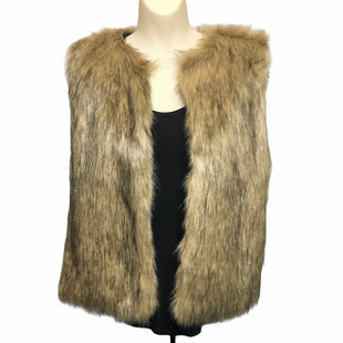 Primary Photo - BRAND:    CLOTHES MENTOR STYLE: VEST FLEECE COLOR: BROWN SIZE: M OTHER INFO: TAMMING - FAUX FUR SKU: 293-29311-34077