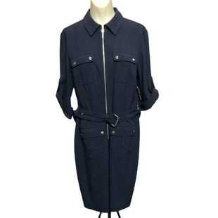 Primary Photo - BRAND: MICHAEL BY MICHAEL KORS STYLE: DRESS SHORT LONG SLEEVE COLOR: NAVY SIZE: L SKU: 293-29351-360