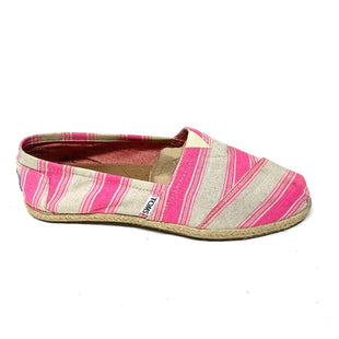 Primary Photo - BRAND: TOMS STYLE: SHOES FLATS COLOR: WHITE PINK SIZE: 8.5 SKU: 293-29312-32060