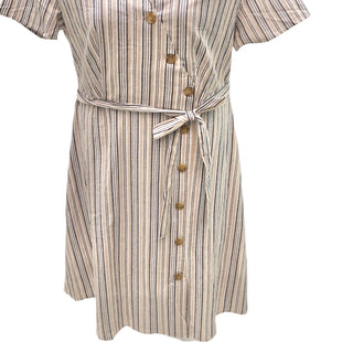 Primary Photo - BRAND: MLLE GABRIELLE STYLE: DRESS SHORT SHORT SLEEVE COLOR: BEIGE SIZE: 1X SKU: 293-29311-29824