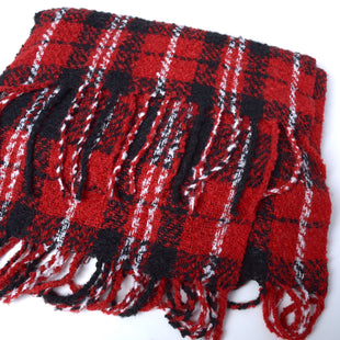 Primary Photo - BRAND: FREE PEOPLE STYLE: SCARF WINTER COLOR: RED PLAID SKU: 293-29312-29662