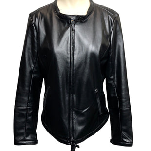 Primary Photo - BRAND: CALVIN KLEIN STYLE: JACKET OUTDOOR COLOR: BLACK SIZE: L OTHER INFO: FAUX LEATHER SKU: 293-29311-35086