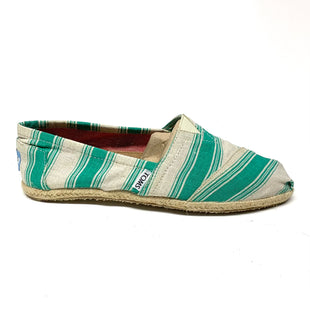 Primary Photo - BRAND: TOMS STYLE: SHOES FLATS COLOR: WHITE GREEN SIZE: 8.5 SKU: 293-29312-32059