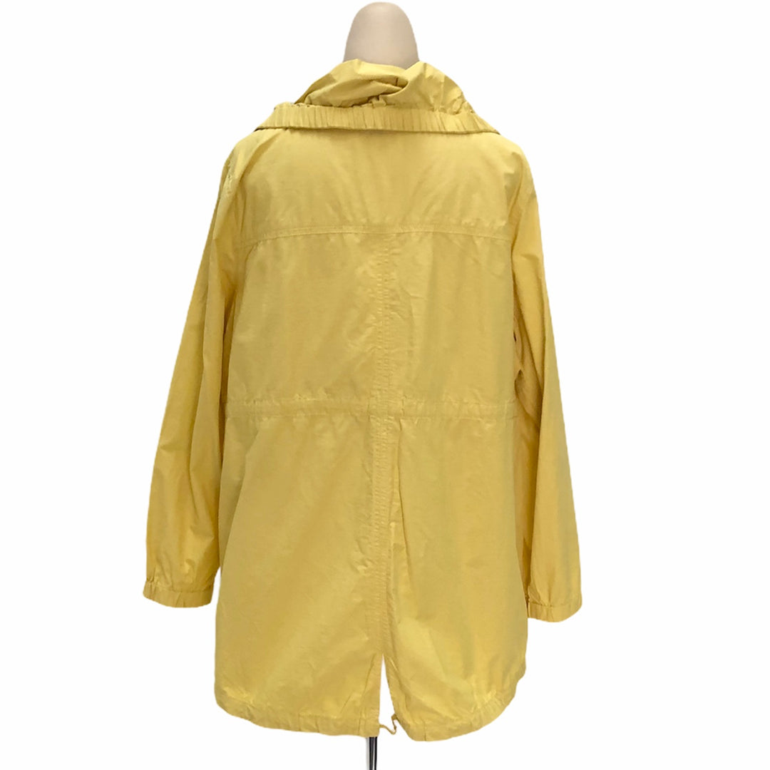 Photo #1 - BRAND: EILEEN FISHER <BR>STYLE: JACKET OUTDOOR <BR>COLOR: YELLOW <BR>SIZE: XL <BR>SKU: 293-29311-31015