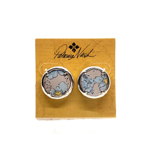 Primary Photo - BRAND: PATRICIA NASH STYLE: EARRINGS COLOR: SILVER OTHER INFO: BLUE FLOWERS STUD SKU: 293-29311-31348