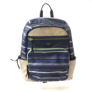 Primary Photo - BRAND: FOSSIL STYLE: BACKPACK COLOR: NAVY SIZE: MEDIUM SKU: 293-29312-28241