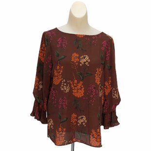 Primary Photo - BRAND: GIBSON AND LATIMER STYLE: TOP LONG SLEEVE COLOR: BROWN SIZE: XS SKU: 293-29312-27574