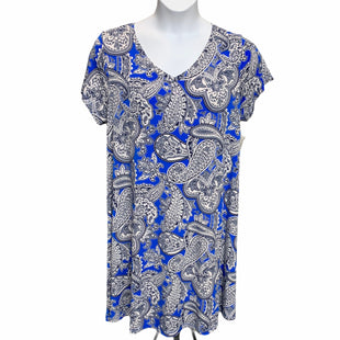 Primary Photo - BRAND: NICOLE BY NICOLE MILLER STYLE: DRESS SHORT SHORT SLEEVE COLOR: BLUE WHITE SIZE: 2X SKU: 293-29312-29948