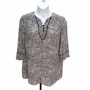 Primary Photo - BRAND: SEJOUR STYLE: TOP LONG SLEEVE COLOR: GREY WHITE SIZE: 1X SKU: 293-29311-29891