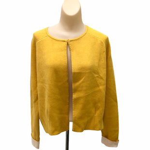 Primary Photo - BRAND: TAHARI STYLE: SWEATER CARDIGAN HEAVYWEIGHT COLOR: YELLOW SIZE: M SKU: 293-29311-30103