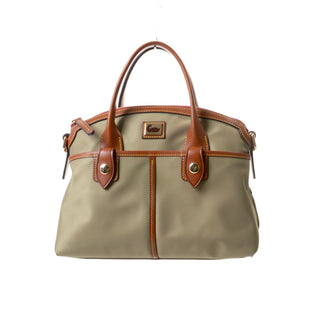 "Primary Photo - BRAND: DOONEY AND BOURKE STYLE: HANDBAG DESIGNER COLOR: TAUPE SIZE: MEDIUM OTHER INFO: WAYFARER NYLON SATCHEL SKU: 293-29311-3084212""W X 9""H X 6""DEXCELLENT CONDITION"