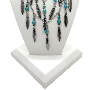 Primary Photo - BRAND: LUCKY BRAND STYLE: NECKLACE COLOR: TURQUOISE OTHER INFO: FEATHERS SKU: 293-29312-33625