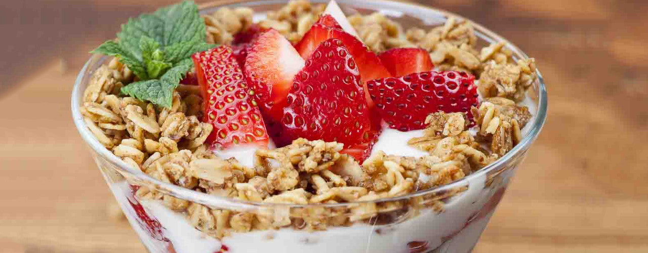 Strawberry Granola Greek Yogurt Crunch Parfait