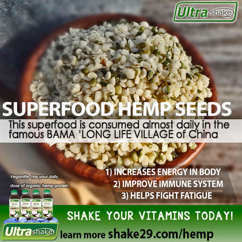 superfood hemp benefits ultrashake infographic