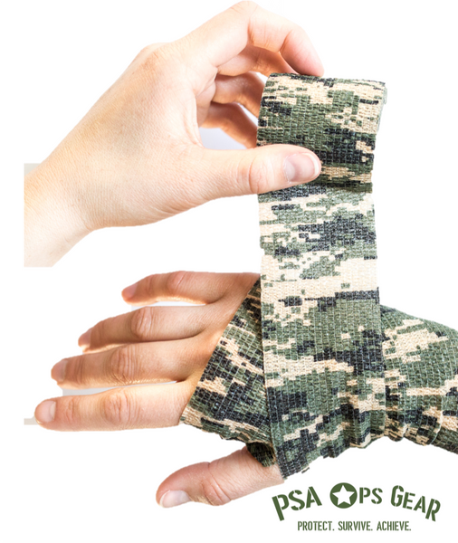Camo Self-Stick Cohesive Wrap - AllaQuix™ - Stop Bleeding Quick Like the Pros!