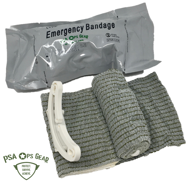 Hemorrhage Trauma Pack with Chest Seal + Combat Emergency Bandage + AllaQuix® Stop Bleeding Gauze - AllaQuix™ - Stop Bleeding Quick Like the Pros!