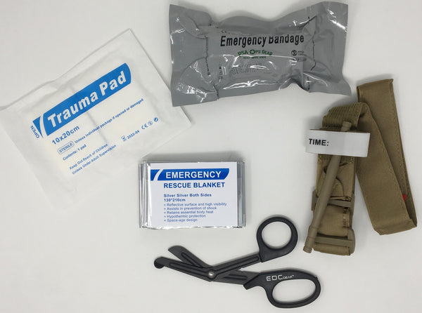 Hemorrhage Trauma Pack with Tourniquet + Combat Emergency Bandage - AllaQuix™ - Stop Bleeding Quick Like the Pros!