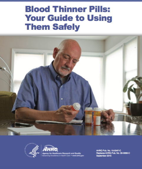 Booklet - Blood Thinner Pills: Your Guide to Using Them Safely