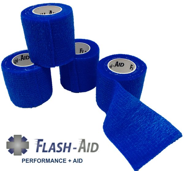 Self-Stick Cohesive Wrap - 4-Pack - AllaQuix™ - Stop Bleeding Quick Like the Pros!