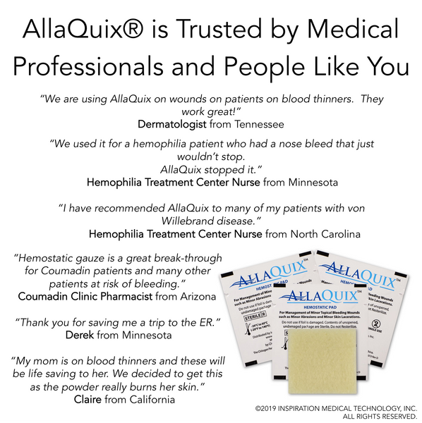 2PC - AllaQuix™ - Stop Bleeding Quick Like the Pros!