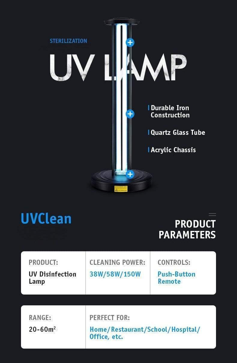 UVClean House UV-C Sanitizing Light Disinfection: Deluxe Safe Home Bundle Best UVC Sanitizer Sterilizer PPE UV-C Kills Germs Viruses Bacteria Mold