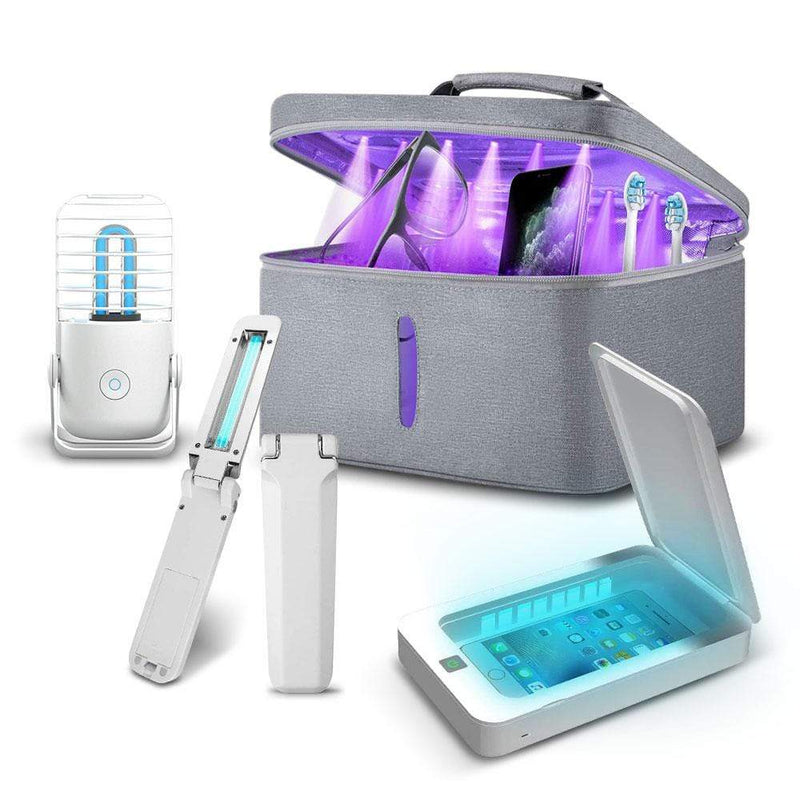 UVClean House UV-C Sanitizing Light Disinfection: Travel Pack Bundle Best UVC Sanitizer Sterilizer PPE UV-C Kills Germs Viruses Bacteria Mold