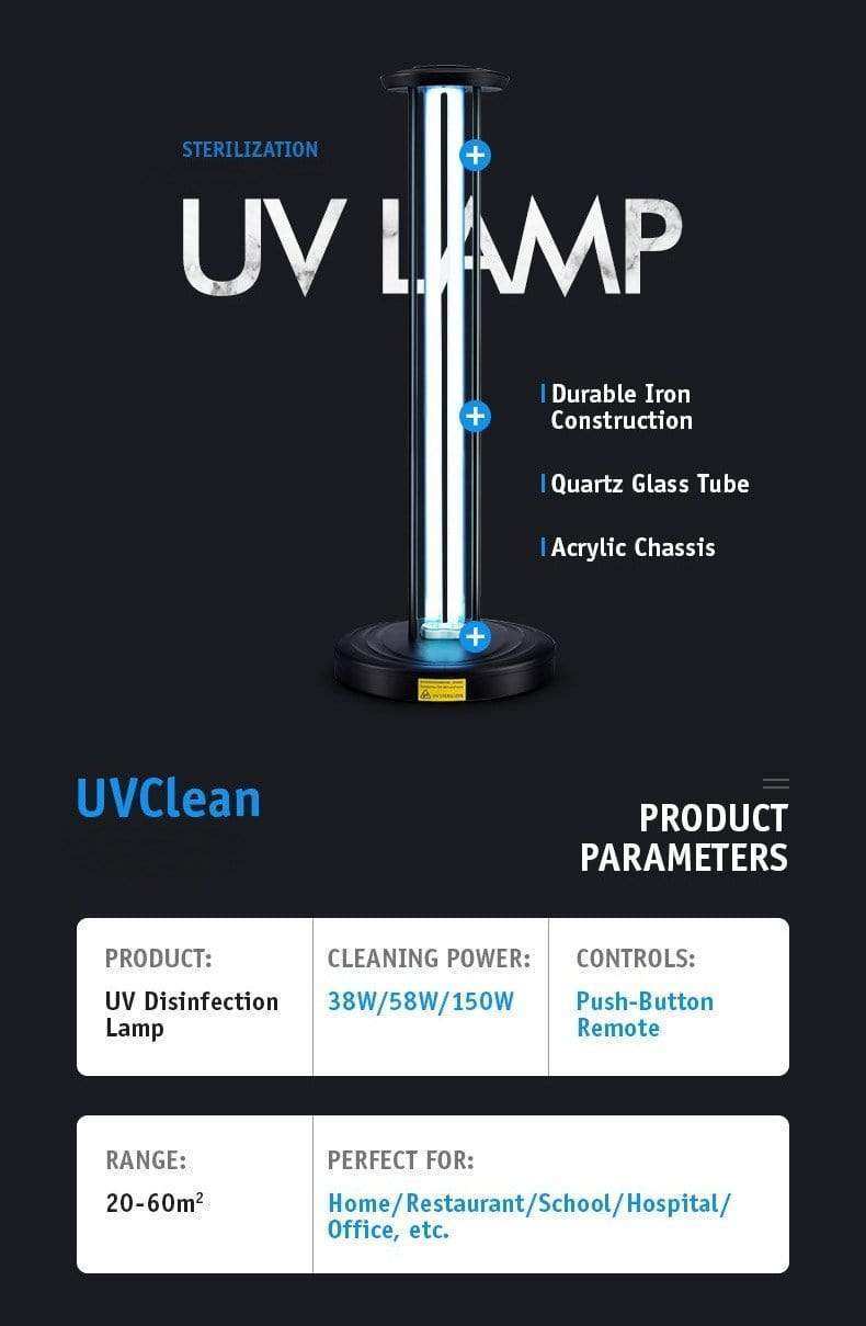 UVClean House UV-C Sanitizing Light Disinfection: Ultimate Business Bundle Best UVC Sanitizer Sterilizer PPE UV-C Kills Germs Viruses Bacteria Mold