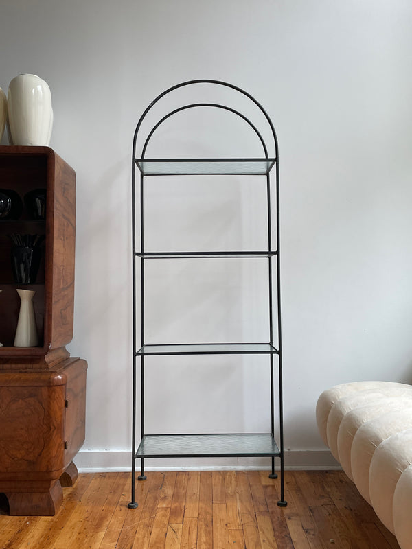 ARCHED METAL SHELF