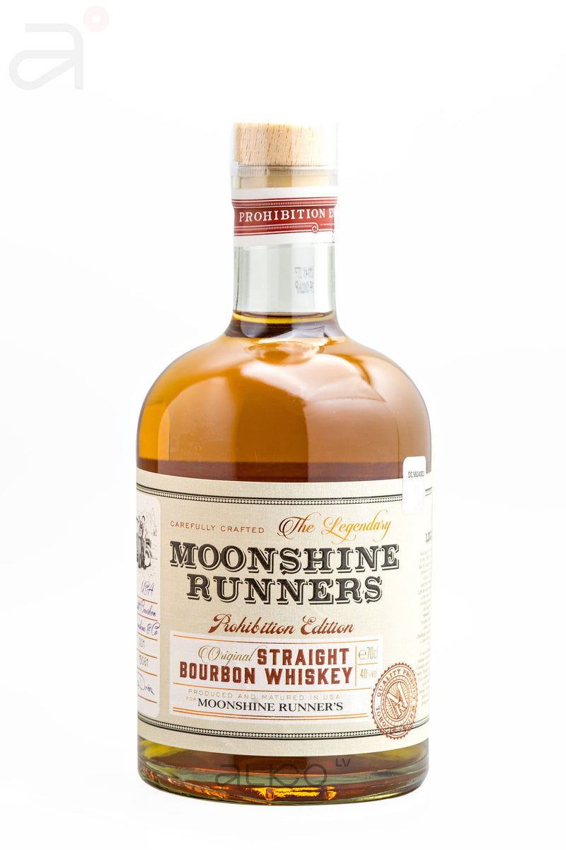 Moonshine Runners The Legendary Straight Bourbon Whisky 40% 0.7L
