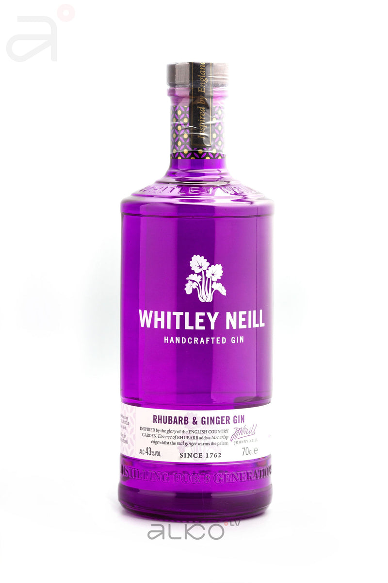 Whitley Neill Rhubarb&Ginger Gin 43% 0.7L