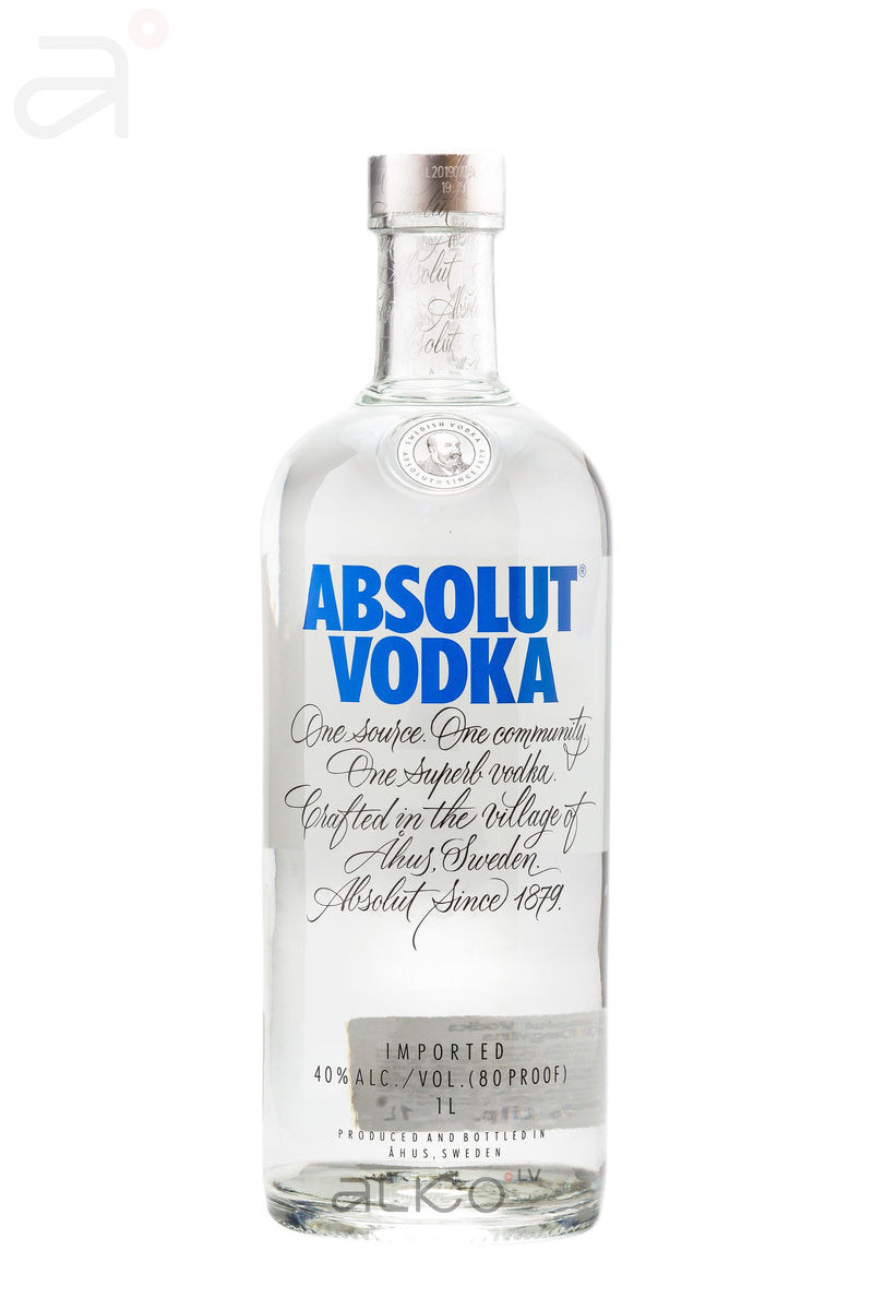 Absolut Vodka  40% 1L